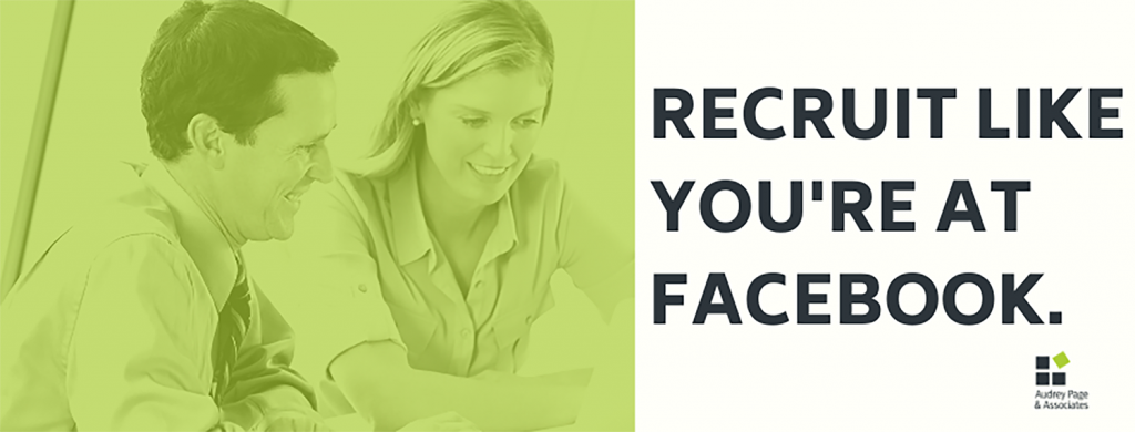 Recruit like you're at Facebook banner
