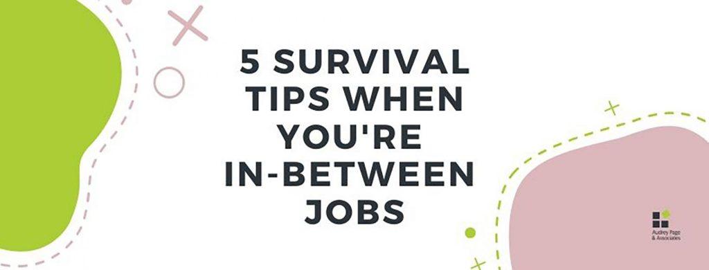 Banner for 5 survival tips